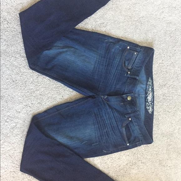 Express Zelda Jean Legging Skinny Jeans Dark Wash